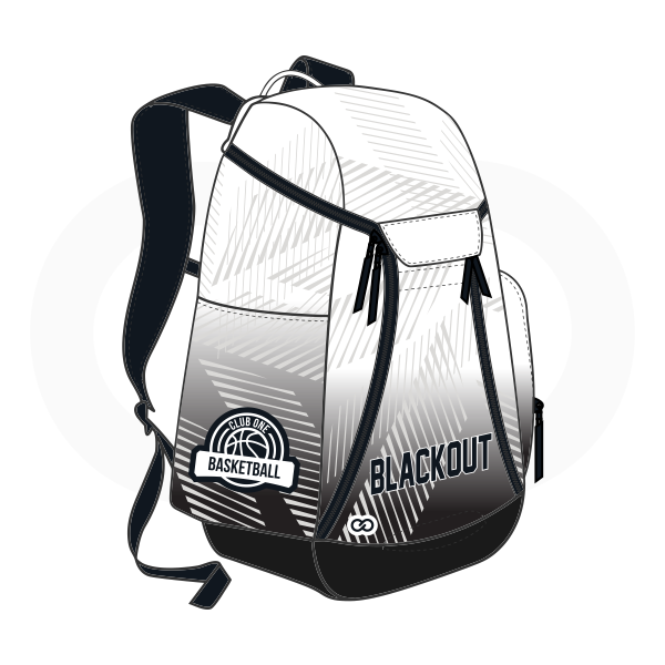 BLACK OUT Gray Whit and Black Basketball Backpacks Nike Elite