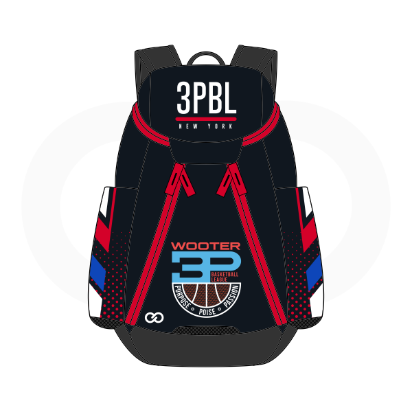3PBL Black Red Blue White Basketball Backpacks Nike Elite