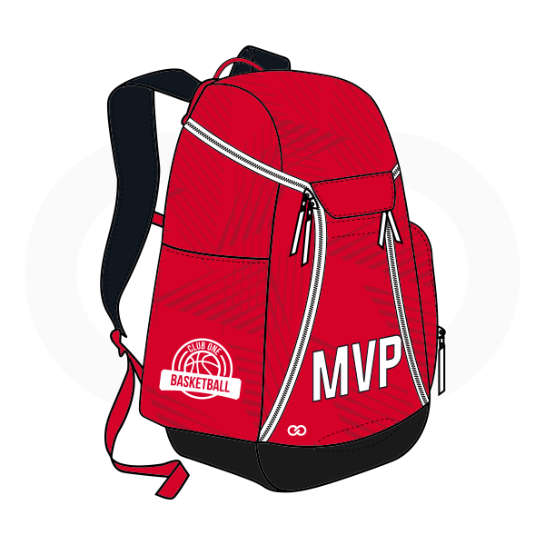 MVP Red White and Black Basketball Backpacks Nike Elite