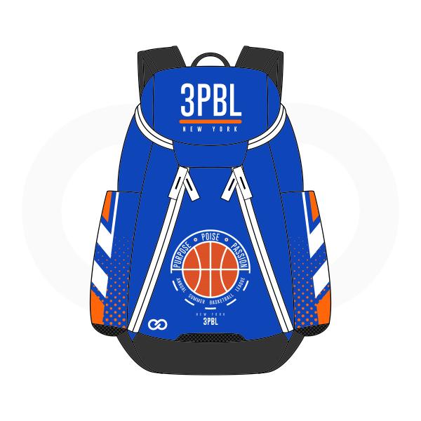 3PBL Blue White Orange and Black Basketball Backpacks Nike Elite