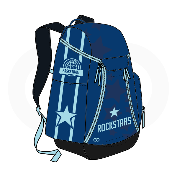 ROCKSTARS Blue Sky Blue and Black Basketball Backpacks Nike Elite