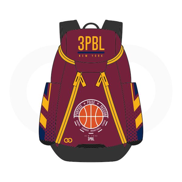 3PBL Maroon Yellow White Orange Blue and Black Basketball Backpacks Nike Elite