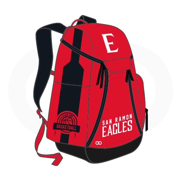 SAN RAMON EAGLES White Red and Black Basketball Backpacks Nike Elite