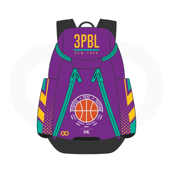 3PBL Violet Blue Green Orange White Yellow And Black Basketball Backpacks Nike Elite