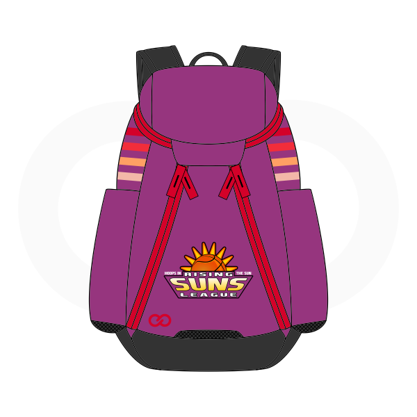 SUNS Purple Red Yellow Orange and Black Basketball Backpacks Nike Elite