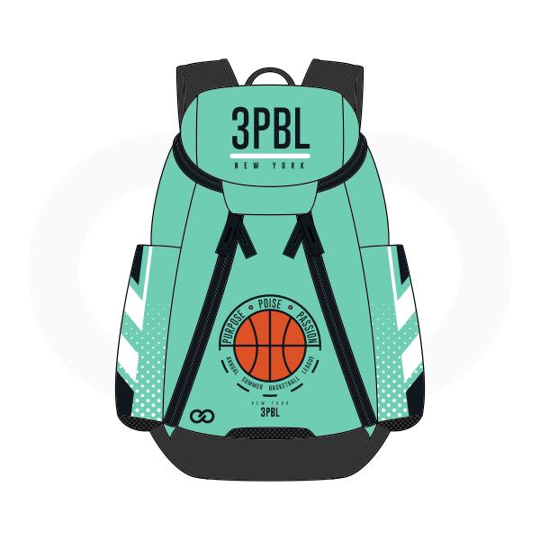 3PBL Blue Green White Orange and Black Basketball Backpacks Nike Elite