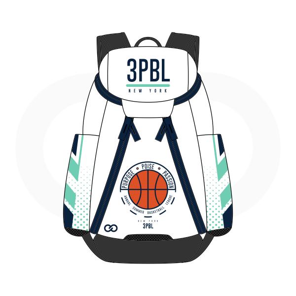 3PBL White Green Blue Black and Orange Basketball Backpacks Nike Elite