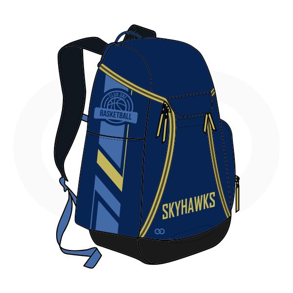SKYHAWKS Blue Black and Yellow Basketball Backpacks Nike Elite
