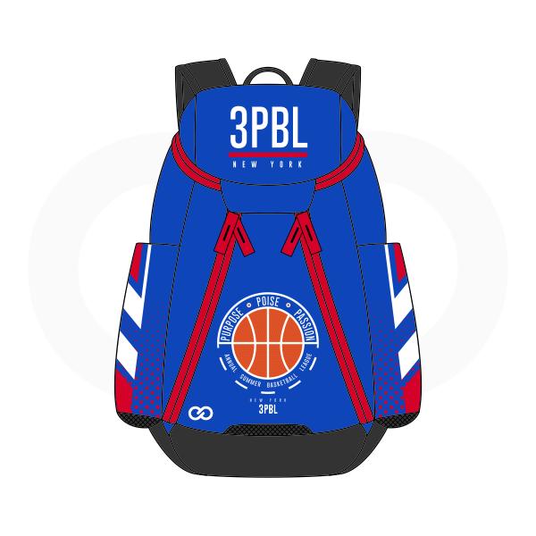 3PBL White Red Black Orange and Blue Basketball Backpacks Nike Elite