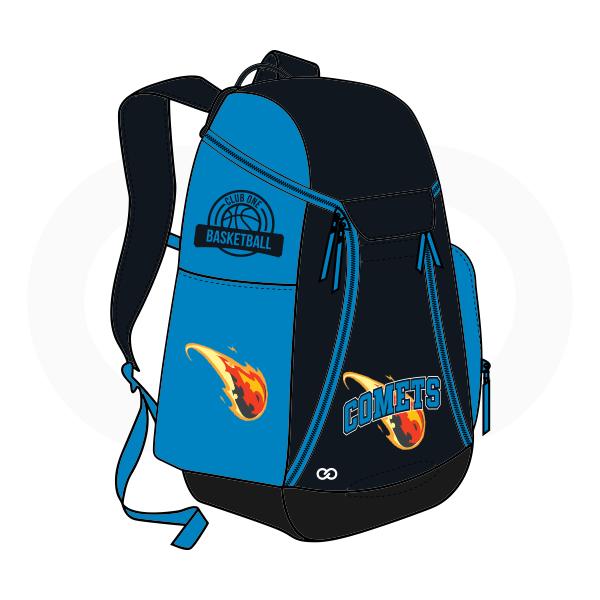 COMETS Black Blue Yellow Orange and White Basketball Backpacks Nike Elite