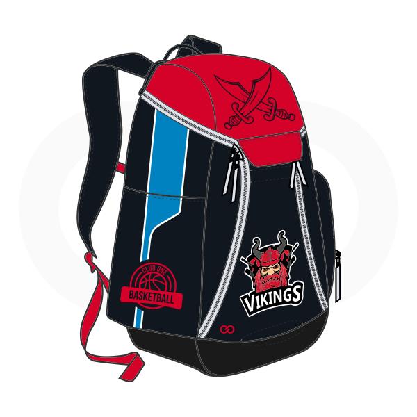 VIKINGS Red Black Blue and White Basketball Backpacks Nike Elite