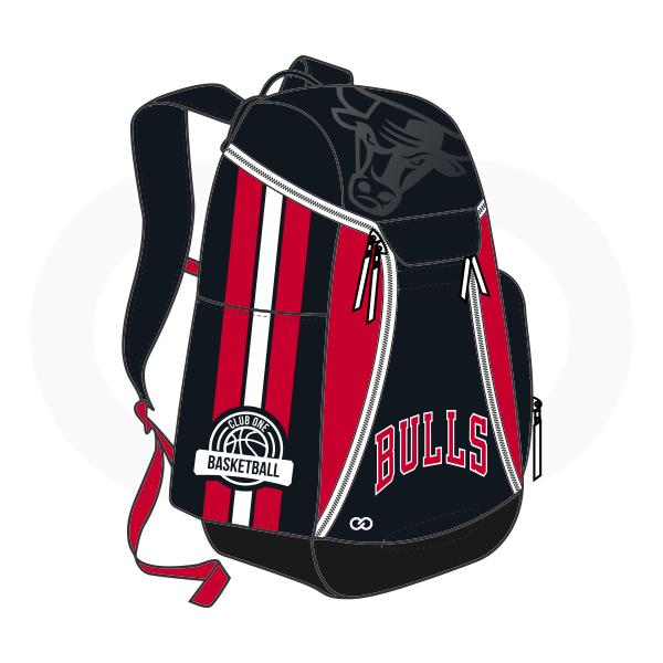 BULLS Black Red and White Basketball Backpacks Nike Elite