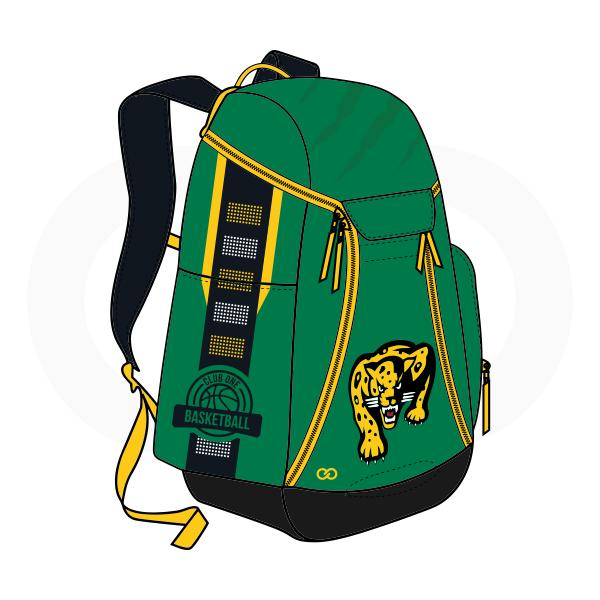 Black Green Yellow and Violet Basketball Backpacks Nike Elite