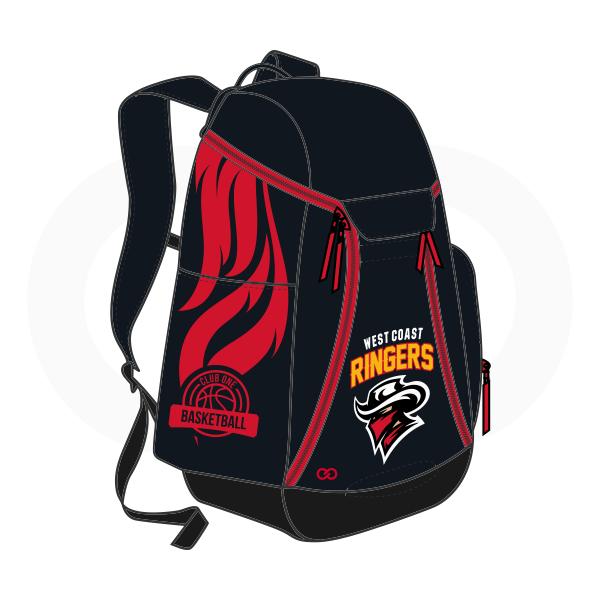 RINGERS Black Yellow White and Red Basketball Backpacks Nike Elite