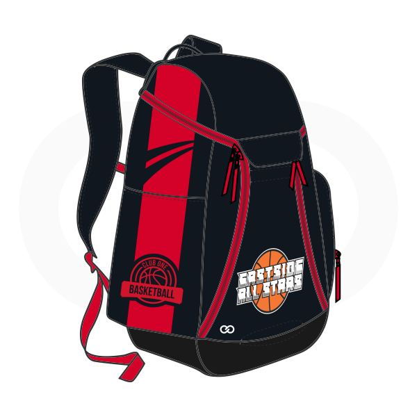 Black Red Orange and White Basketball Backpacks Nike Elite