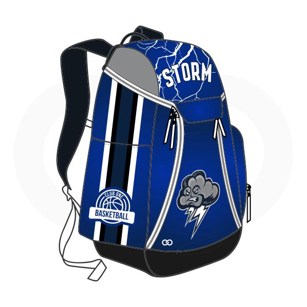 STORM Gray Black Blue and White Basketball Backpacks Nike Elite