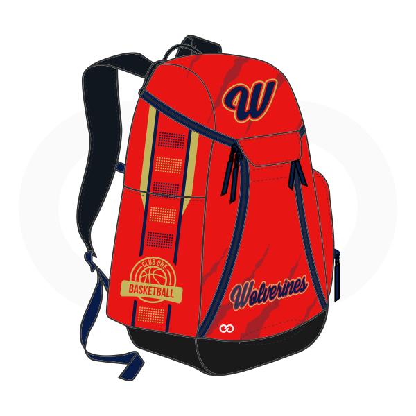 Red Blue Yellow and Black Basketball Backpacks Nike Elite