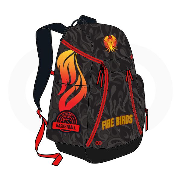 FIRE BIRDS Gray Black Red Yellow Basketball Backpacks Nike Elite
