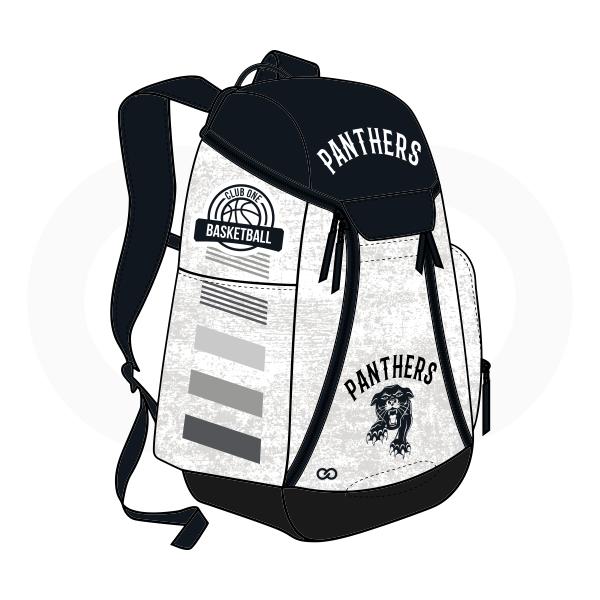 PANTHERS Black Gray White Basketball Backpacks Nike Elite