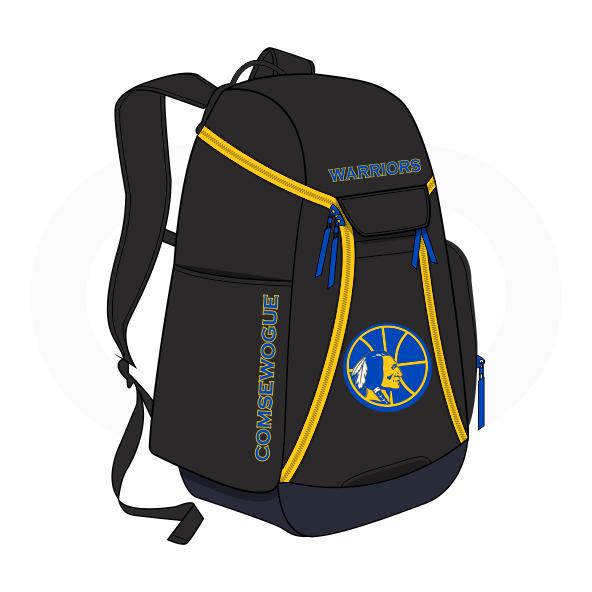 WARRIORS Black Blue and Yellow Basketball Backpacks Nike Elite
