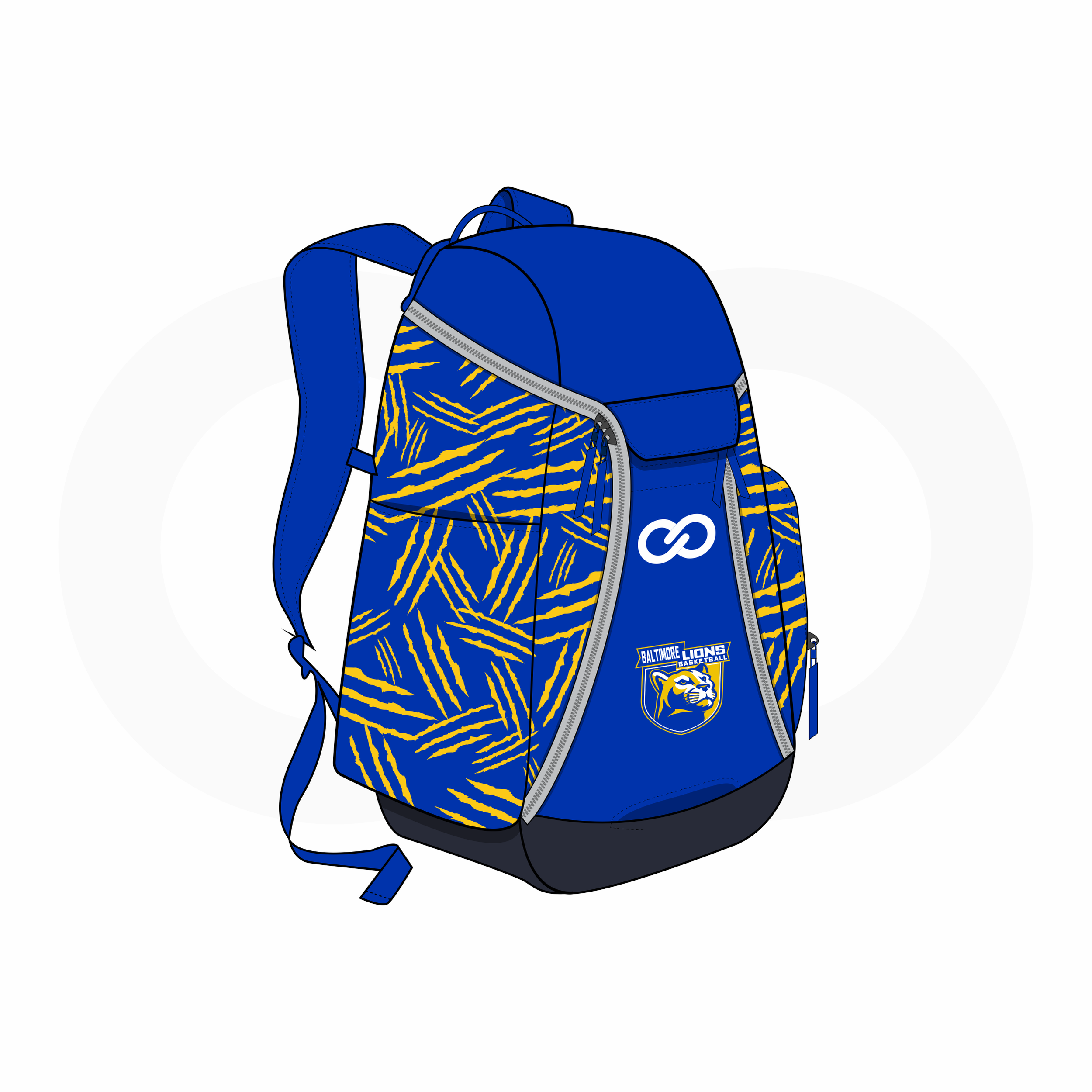 Blue Yellow and White Basketball Backpacks Nike Elite