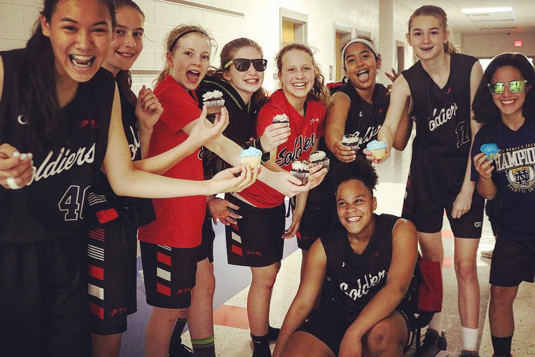 Women's SOLDIERS Red Black White basketball uniforms, jerseys, and shorts