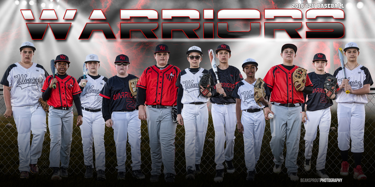 WARRIORS Red Black White Baseball Uniforms, Jerseys Shirts and Pants