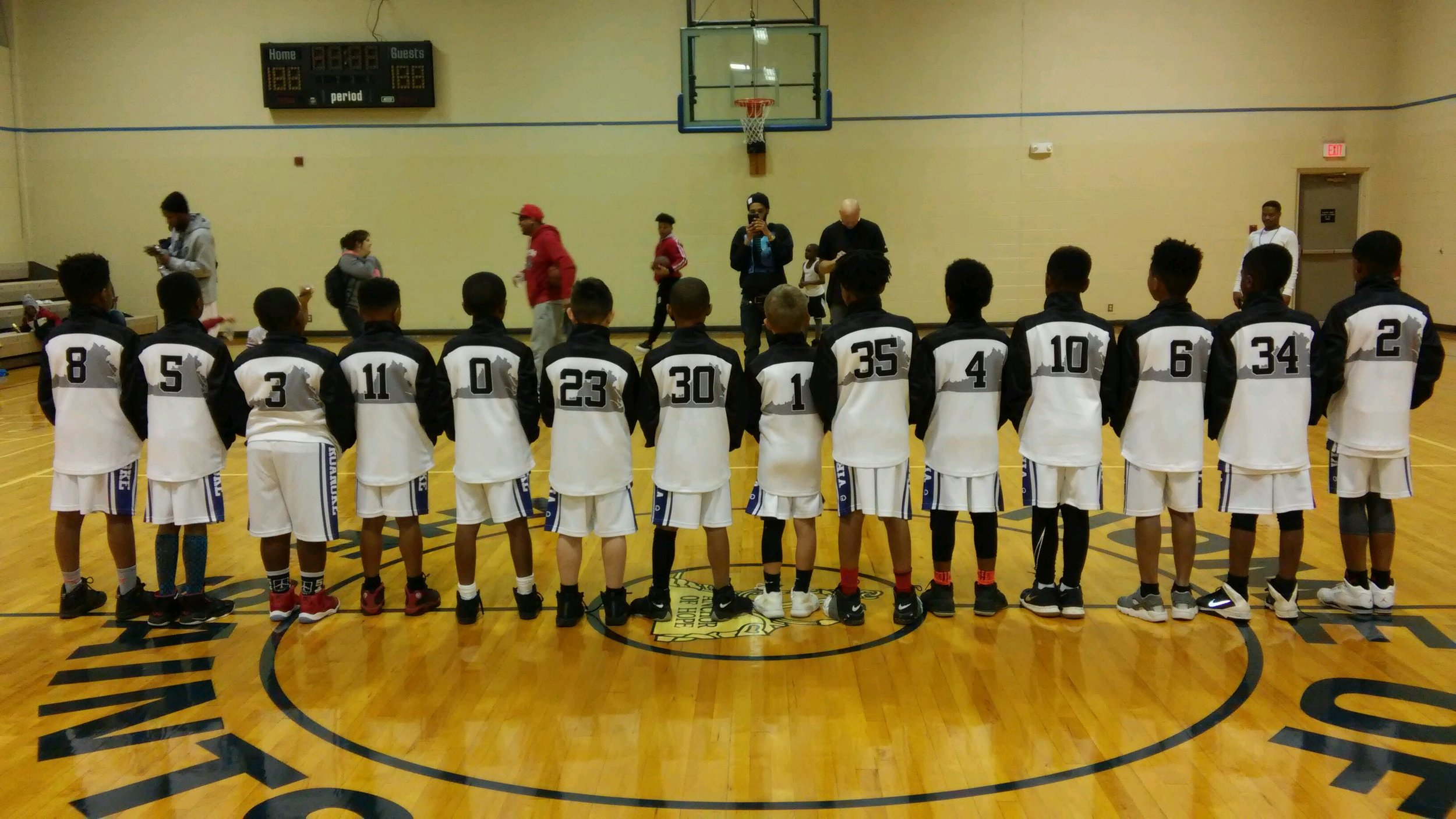 Youth 540 Black White basketball uniforms, jerseys, and shorts
