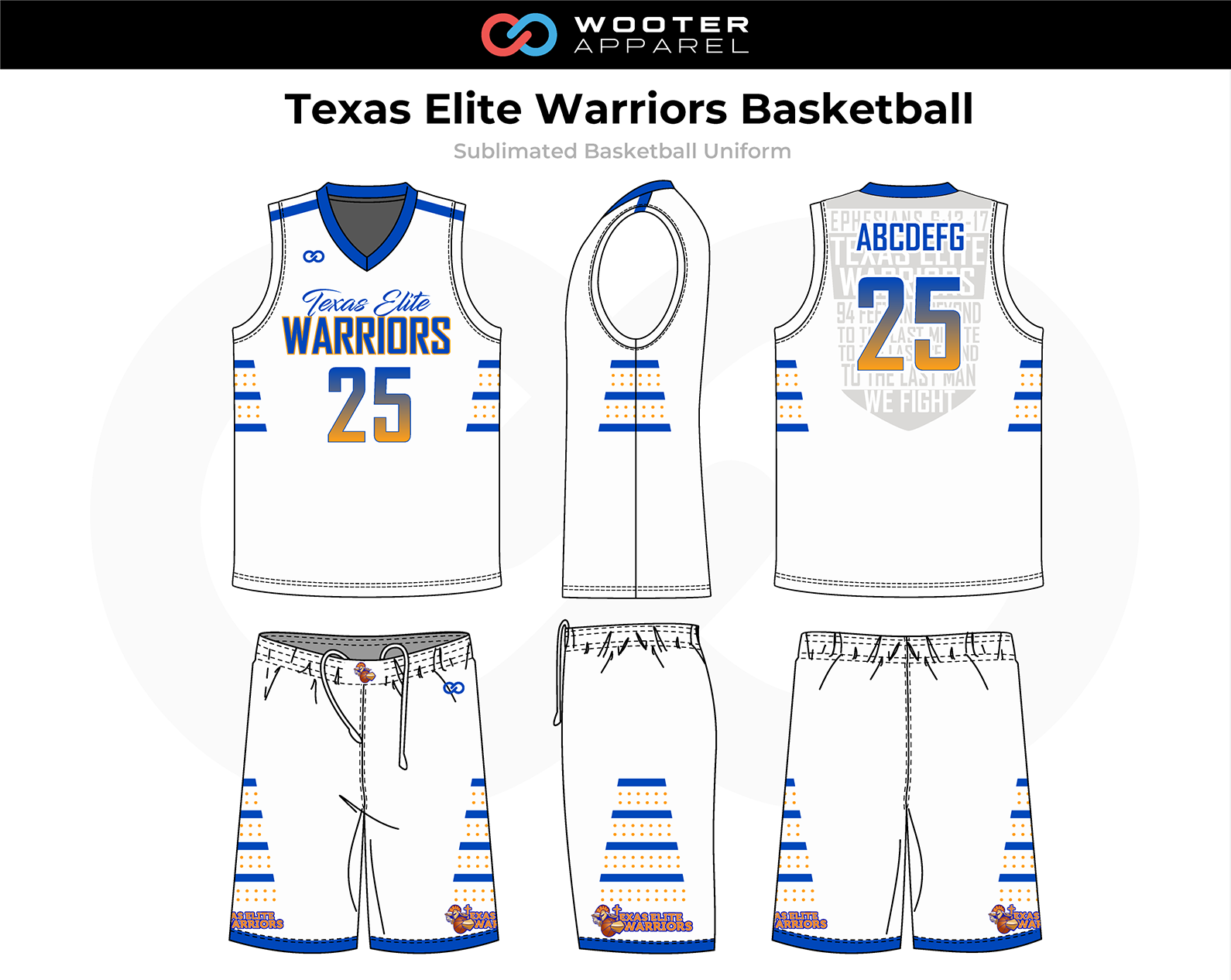 2018-11-08 Texas Elite Warriors Basketball Uniform (White).png