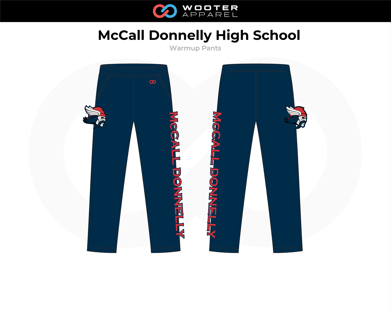 2018-10-25 McCall Donnelly High School Basketball (Golden Tigers) Warmup Pants.png