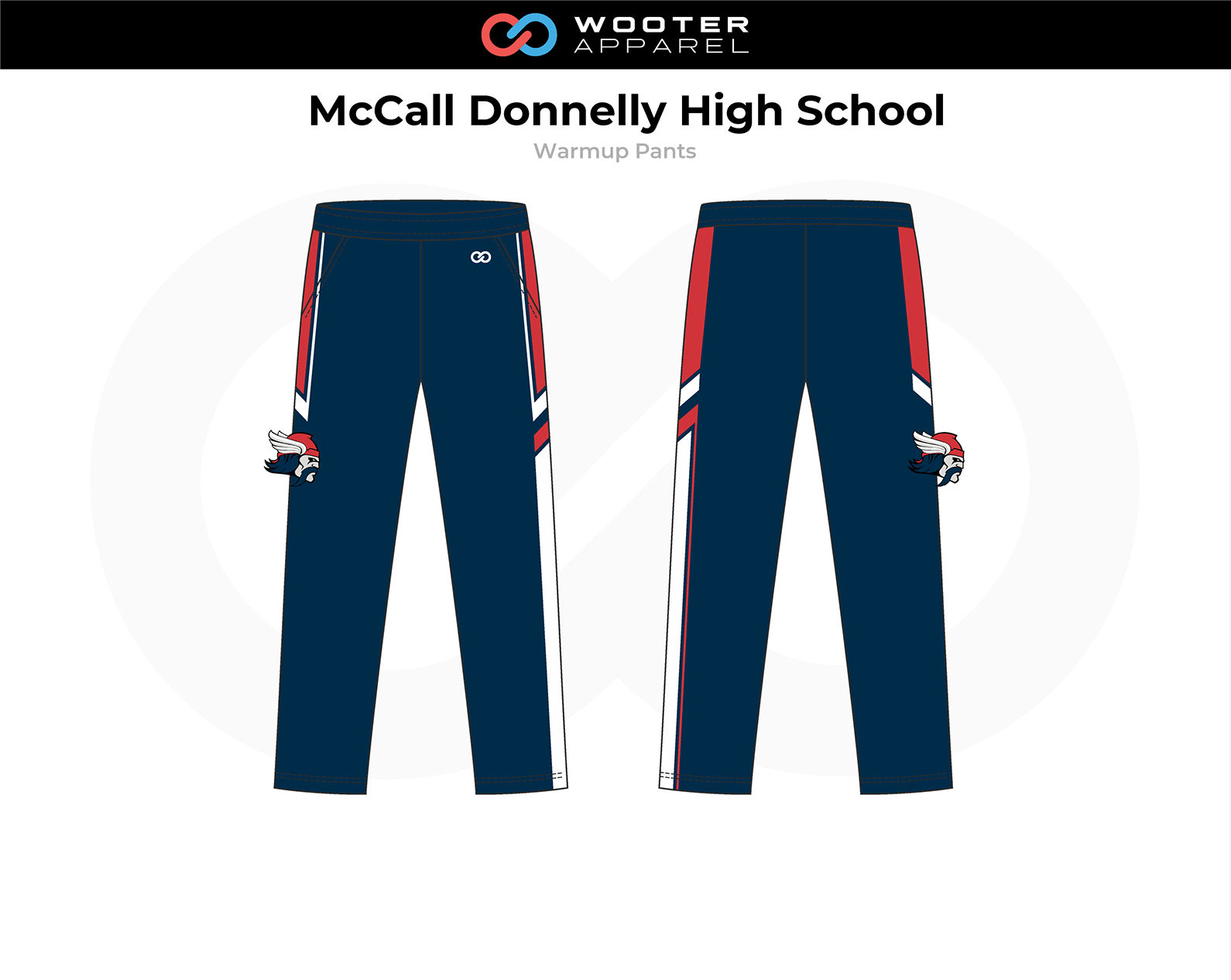 2018-10-25 McCall Donnelly High School Basketball (Panthers) Warmup Pants.png