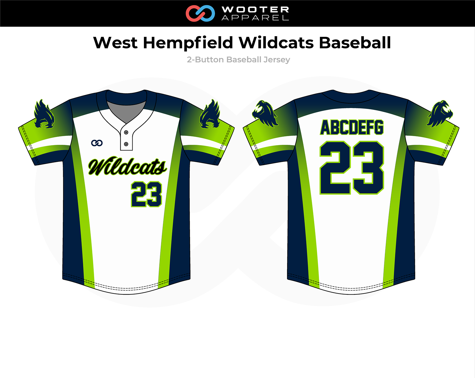 2018-11-06 West Hempfield Wildcats Baseball 2-Button Jersey.png