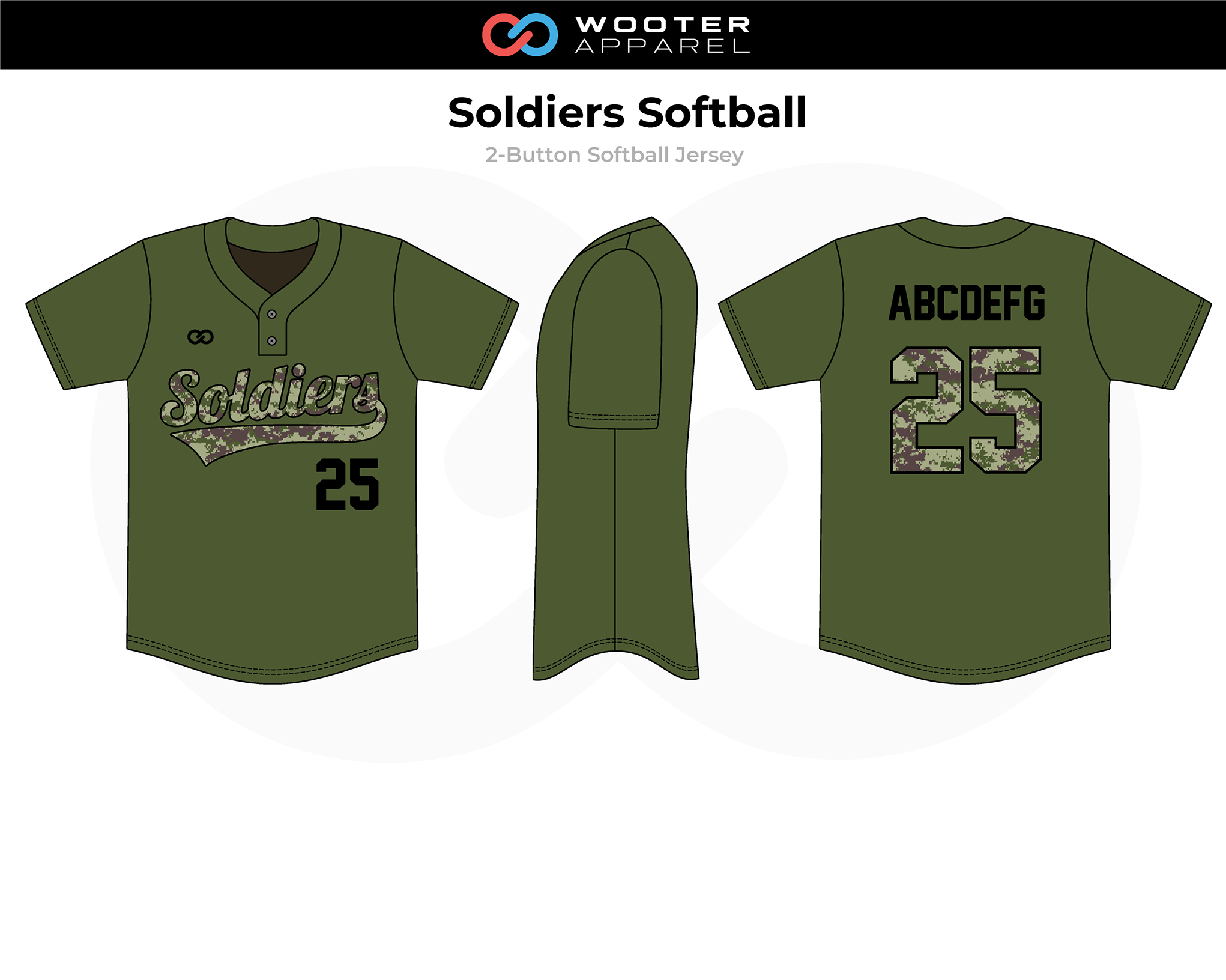 2018-06-22 Soldiers Softball 2-Button Softball Jersey (Army Green).png