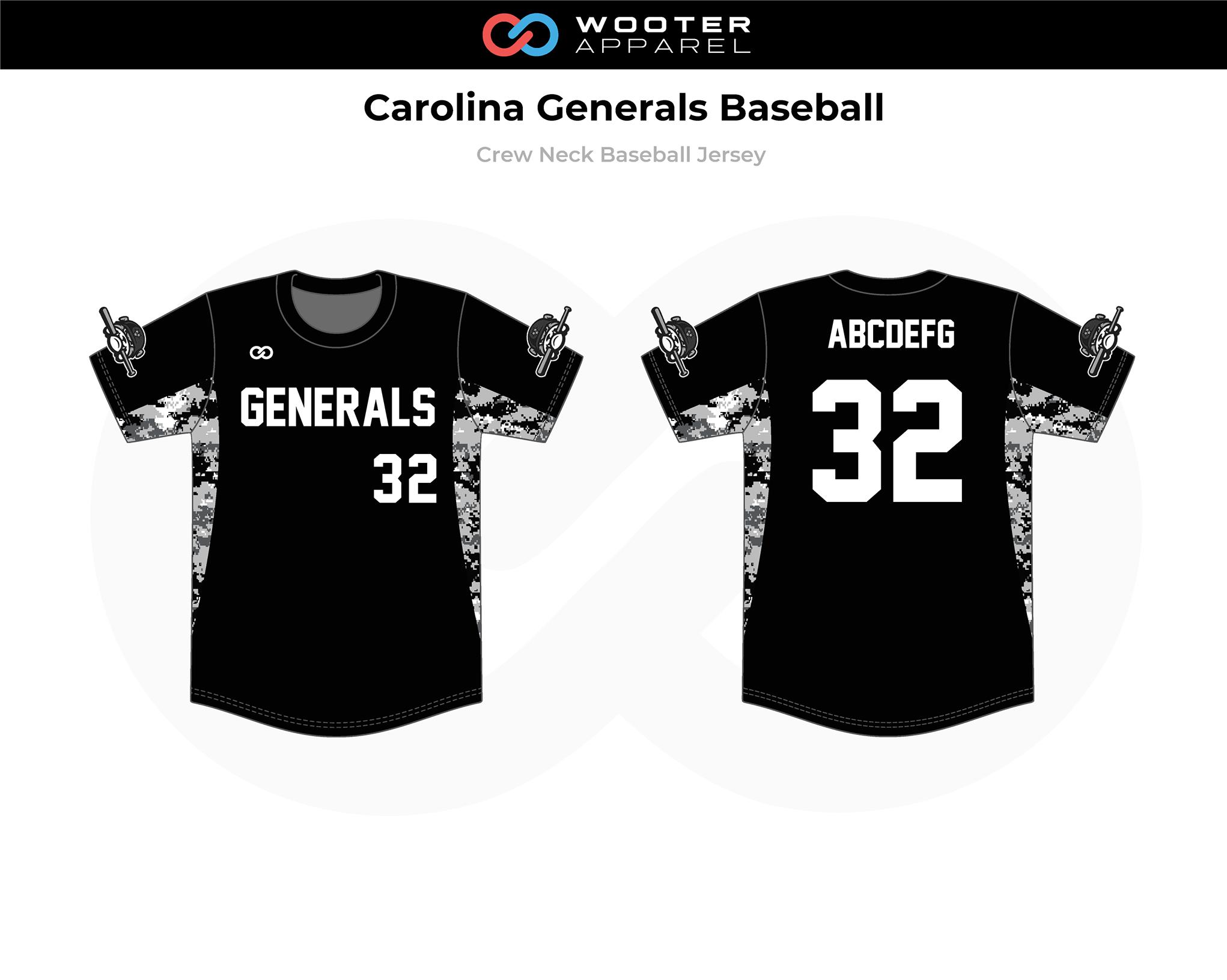 2018-01-10 Carolina Generals Baseball Crew-Neck Pullover Jersey (Black).png