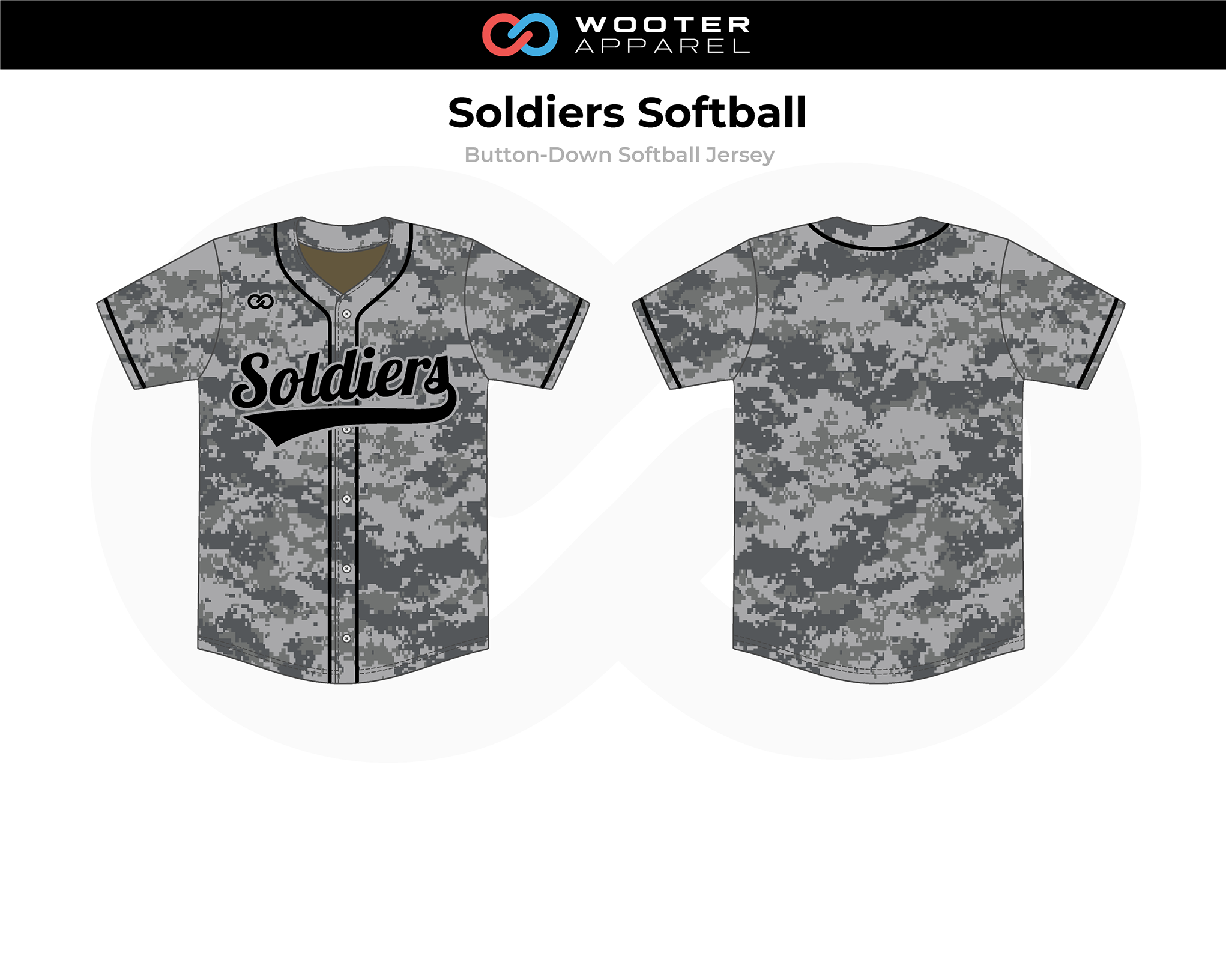 2018-06-22 Soldiers Softball Button-Down Jersey (Oakland) (Gray).png