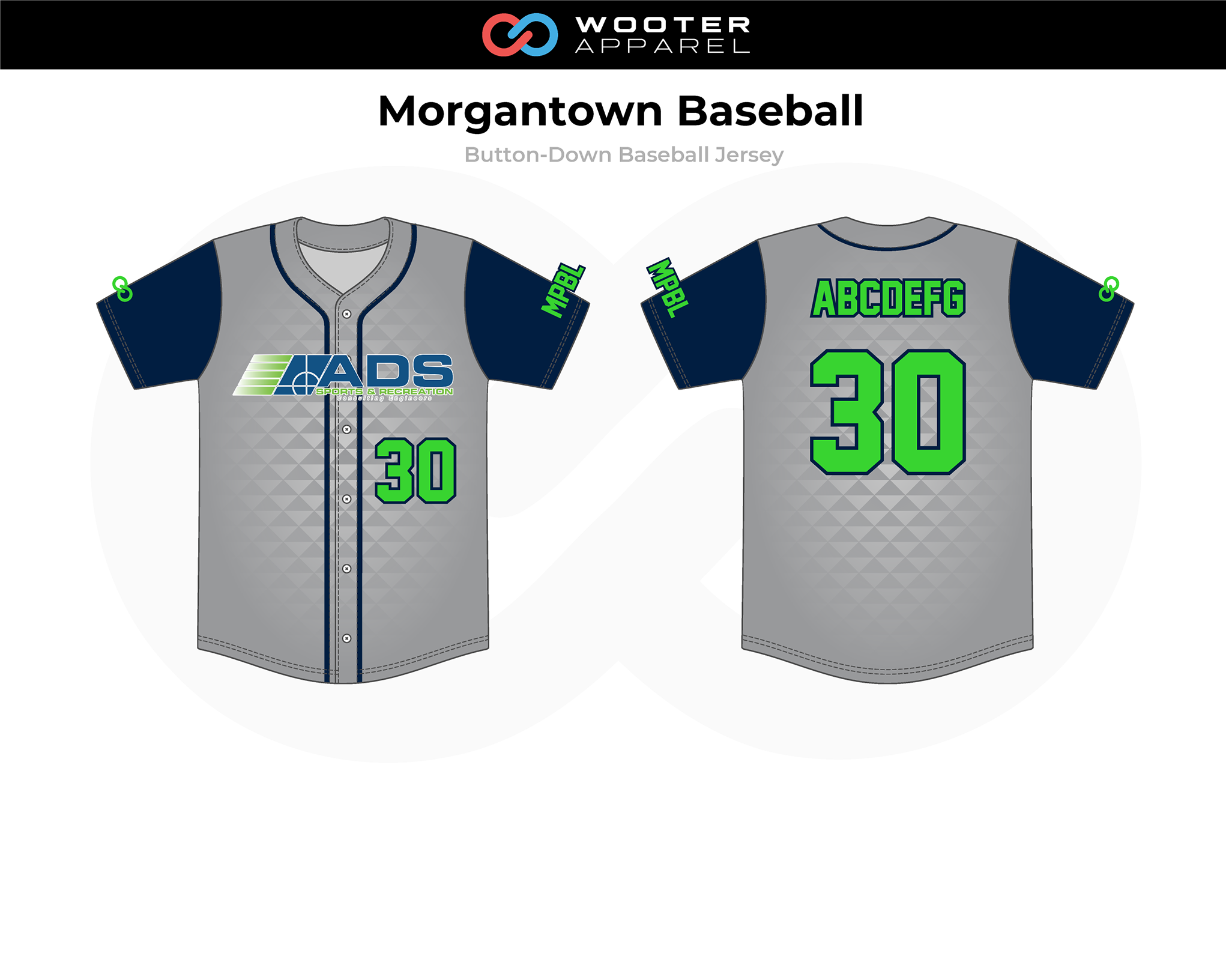 2019-01-17 Morgantown Baseball Baseball Button-Down Jersey (Force).png