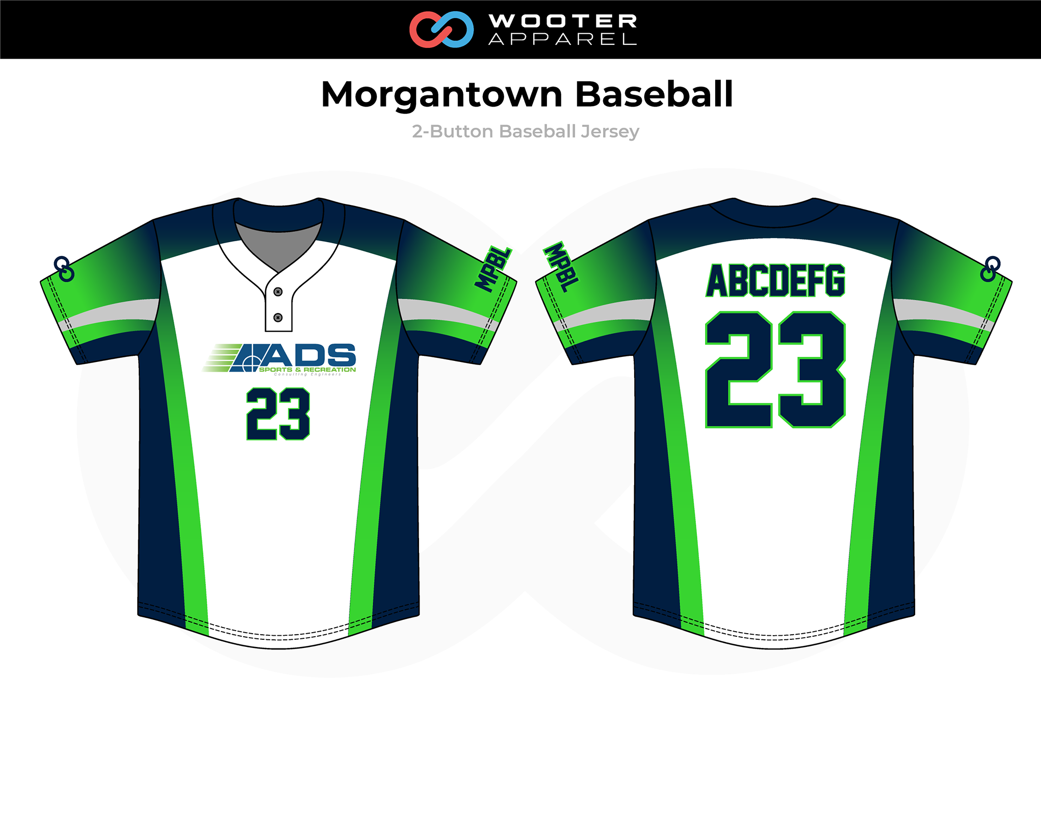 2019-01-17 Morgantown Baseball Button-Down Jersey (Aternate).png