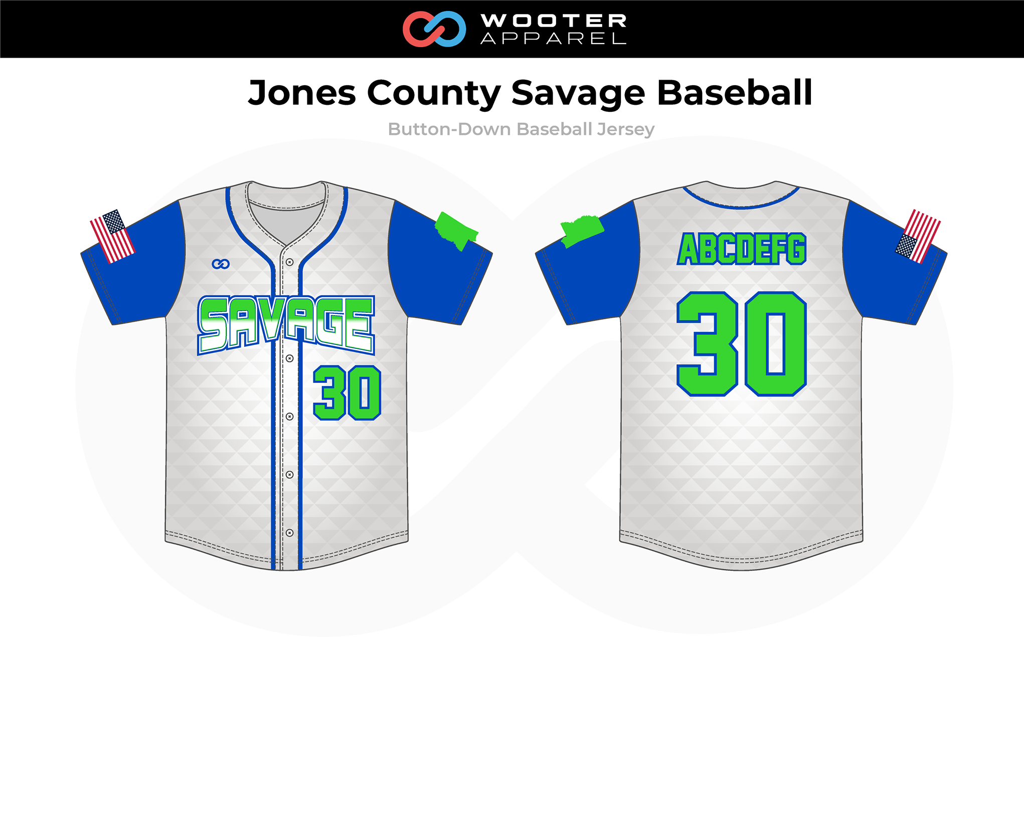 2019-01-15 Jones County Savage Baseball Button-Down Jersey (Home).png