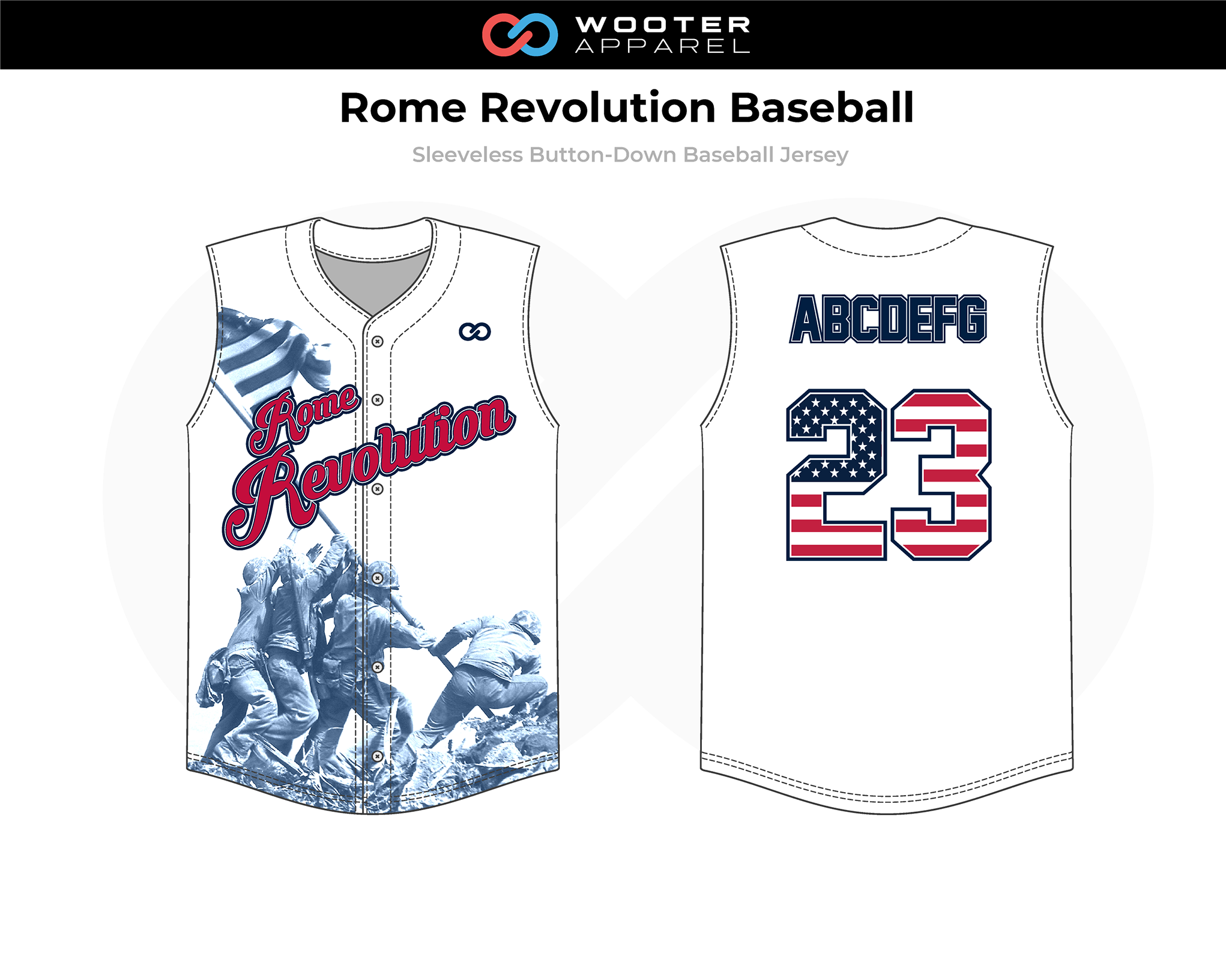 2019-02-18 Rome Revolution Baseball Sleeveless Button-Down Jersey.png