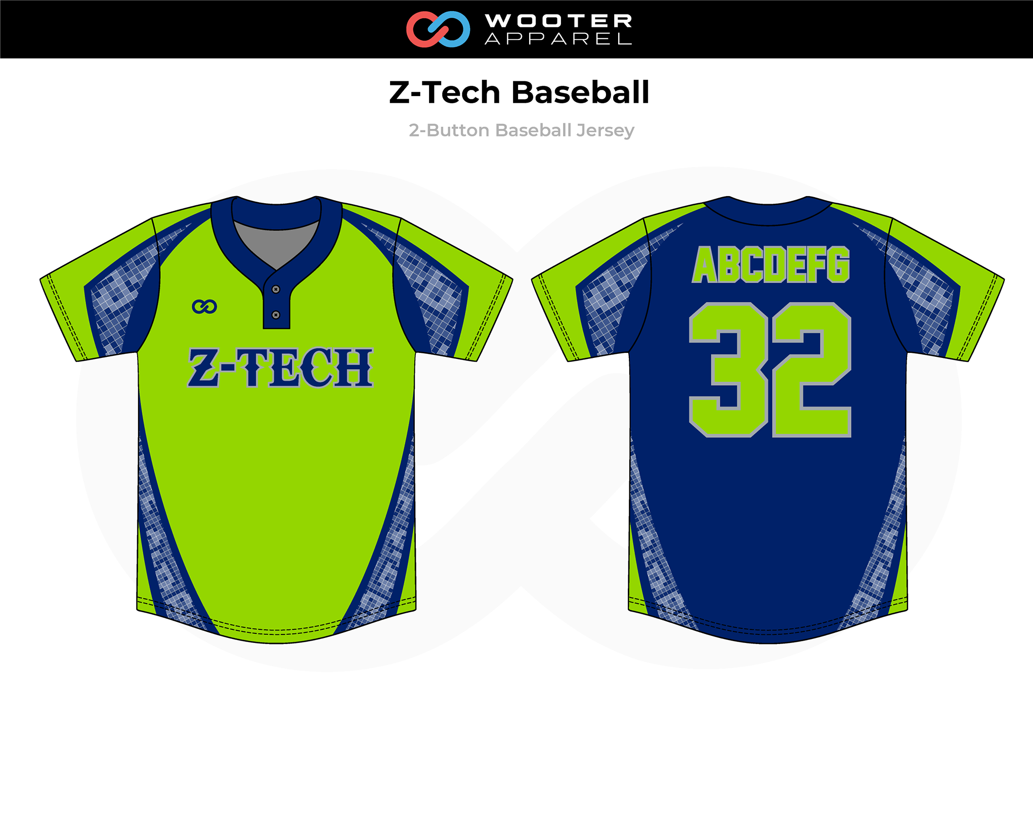 2019-03-06 Z-Tech Baseball 2-Button Jersey (Green).png