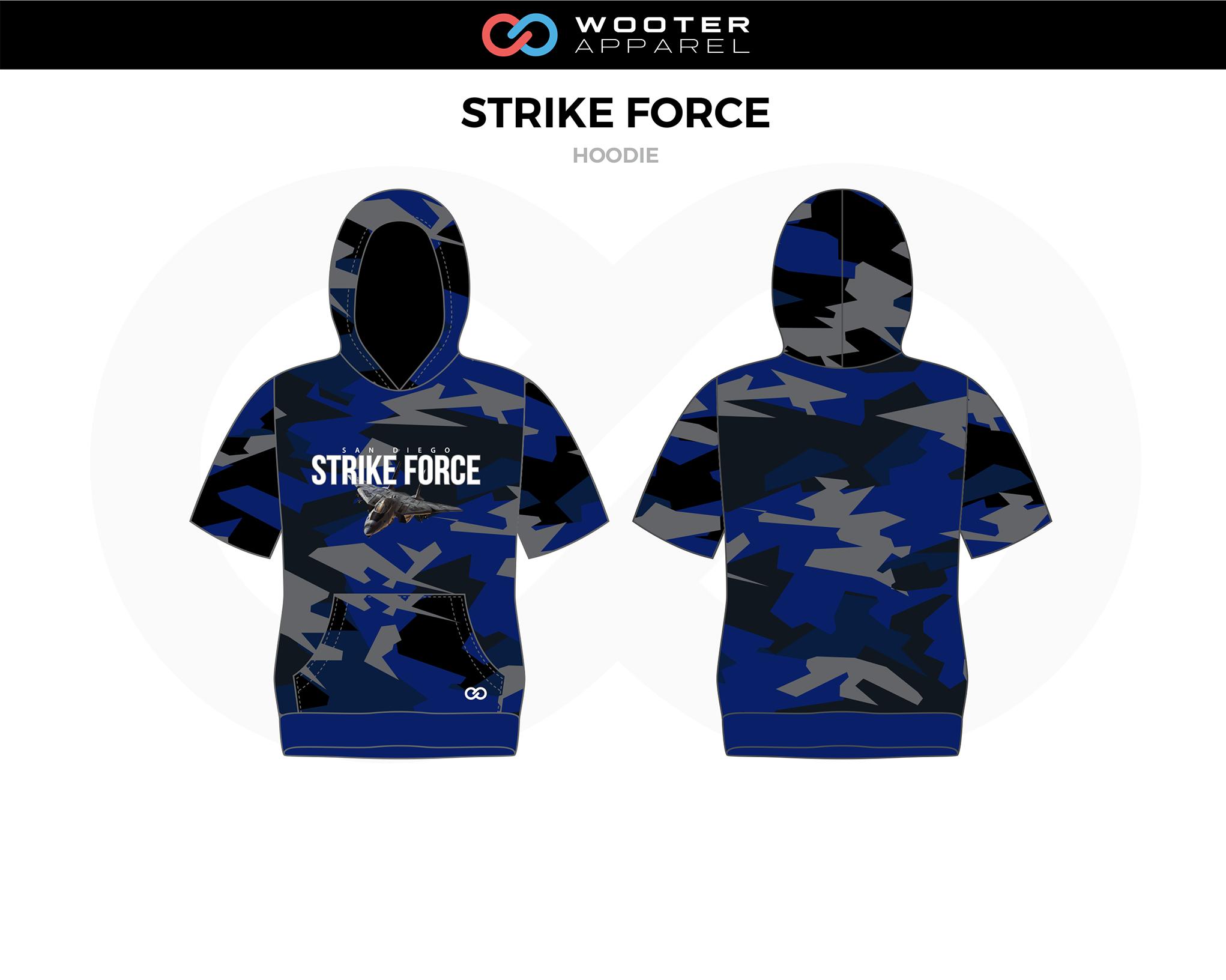 STRIKE FORCE Blue Black Gray Basketball Hoodie