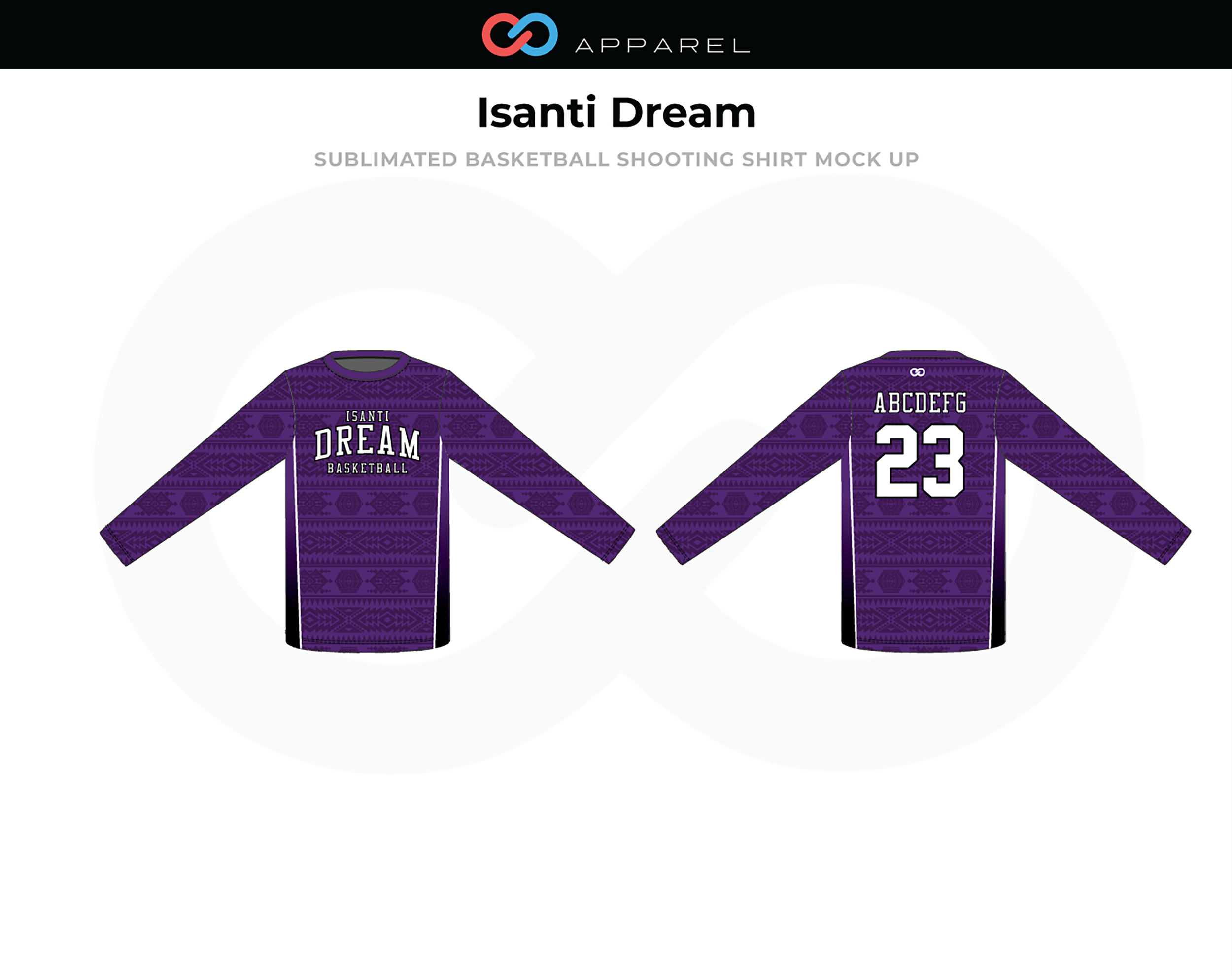 ISANTI DREAM Purple Basketball Shooting Shirt