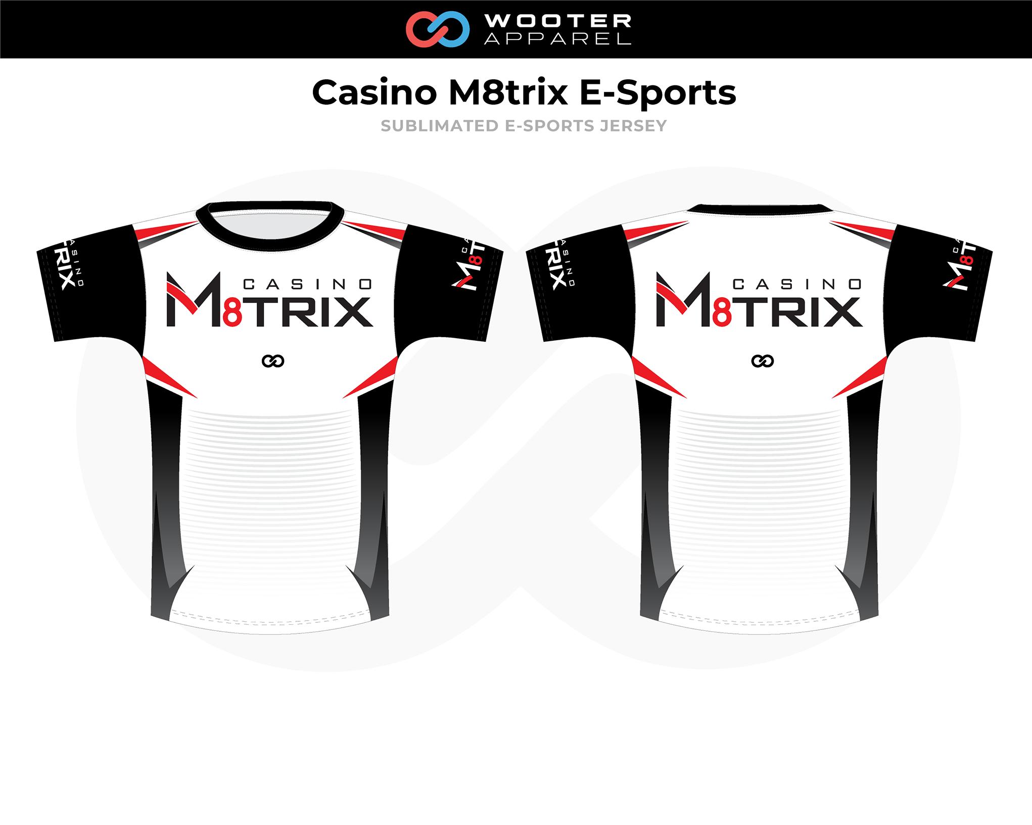 CASINO M8TRIX White Black Red E-Sports Jersey