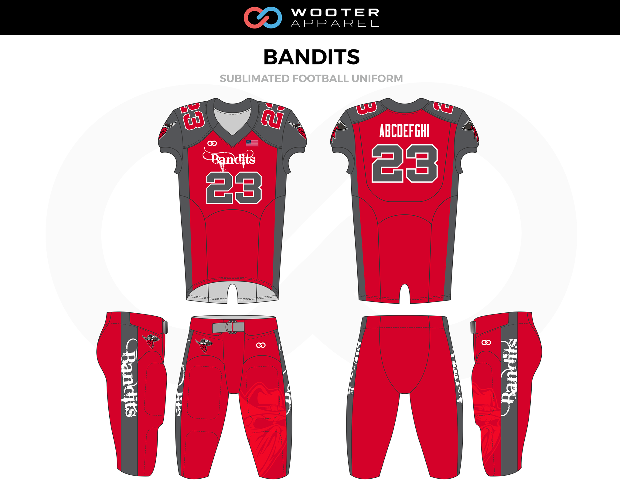 7935217ed Football Designs — Wooter Apparel | Team Uniforms and Custom Sportswear