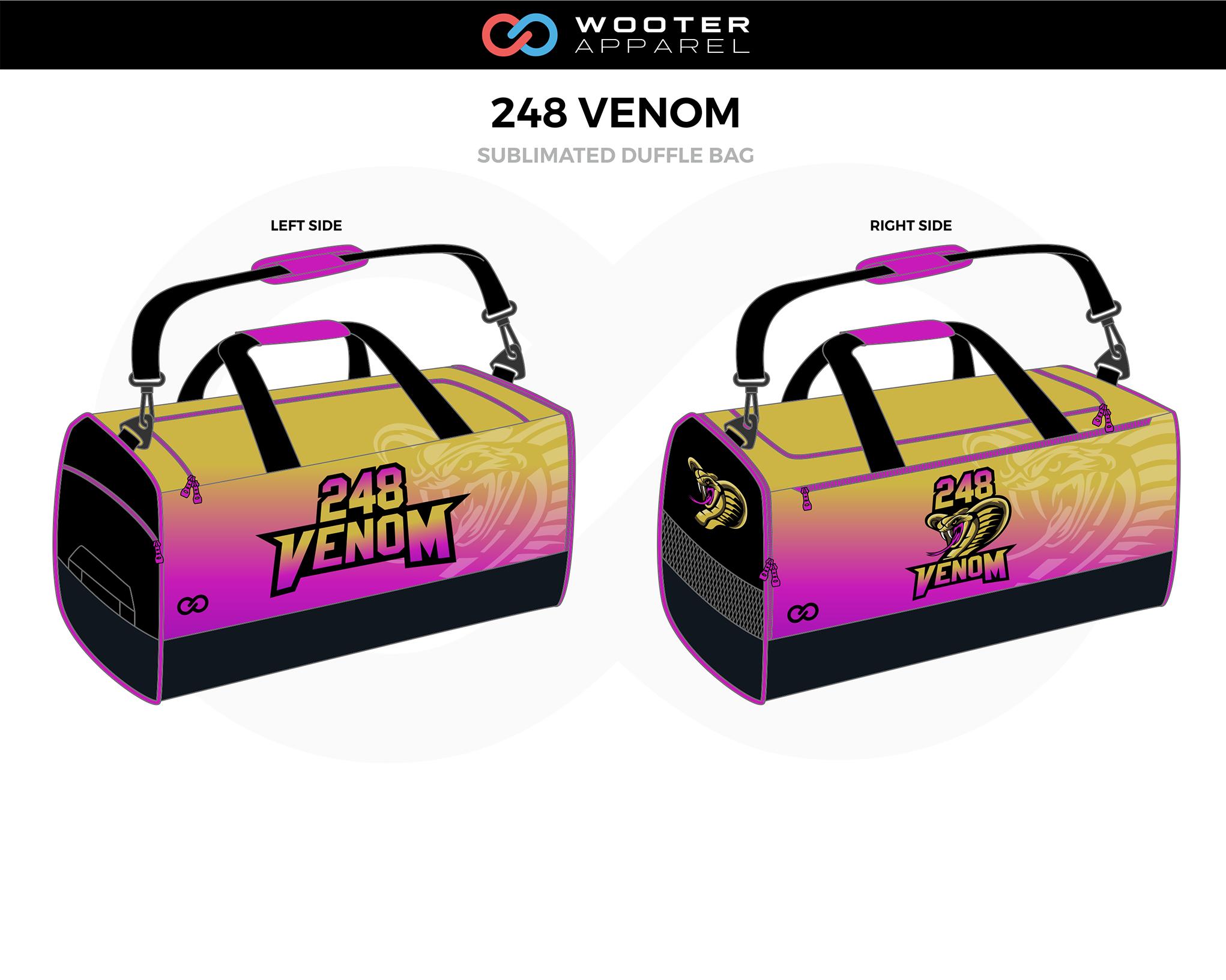 248 VENOM Lavender Yellow Black Football Duffle Bag