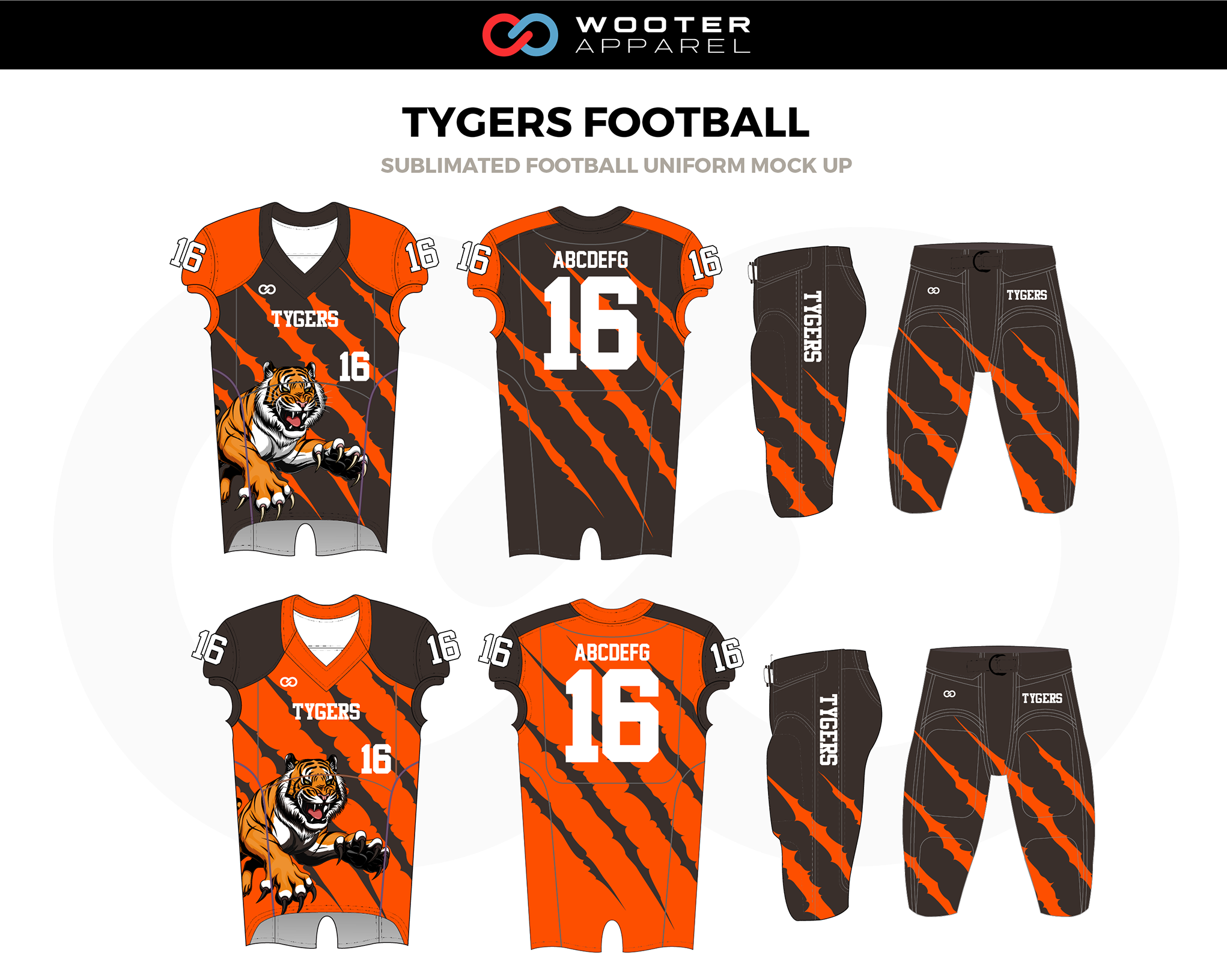 Football Designs Custom Football Uniform Jersey Designs Wooter Apparel