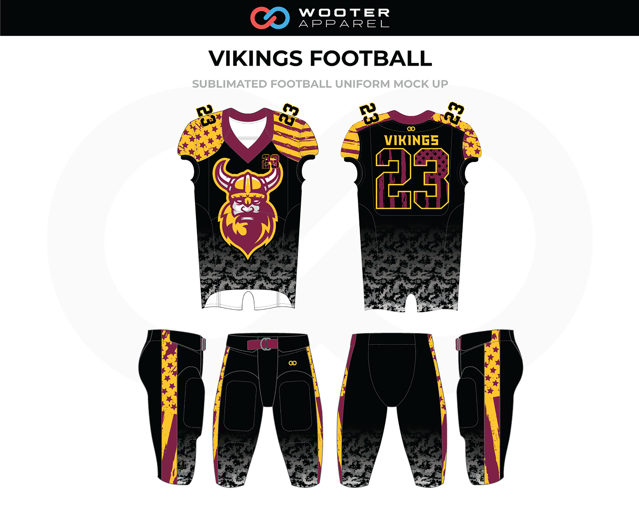 info for a228c cc6e8 Football Designs — Wooter Apparel | Team Uniforms and Custom ...