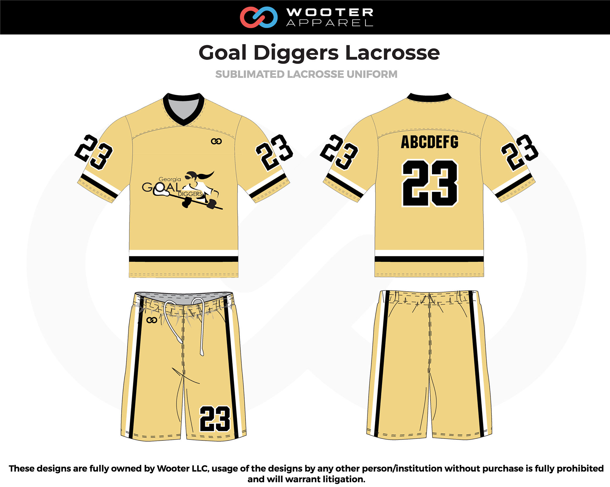 2019-02-04 Goal Diggers Lacrosse Reversible Uniform (Gold Side).png