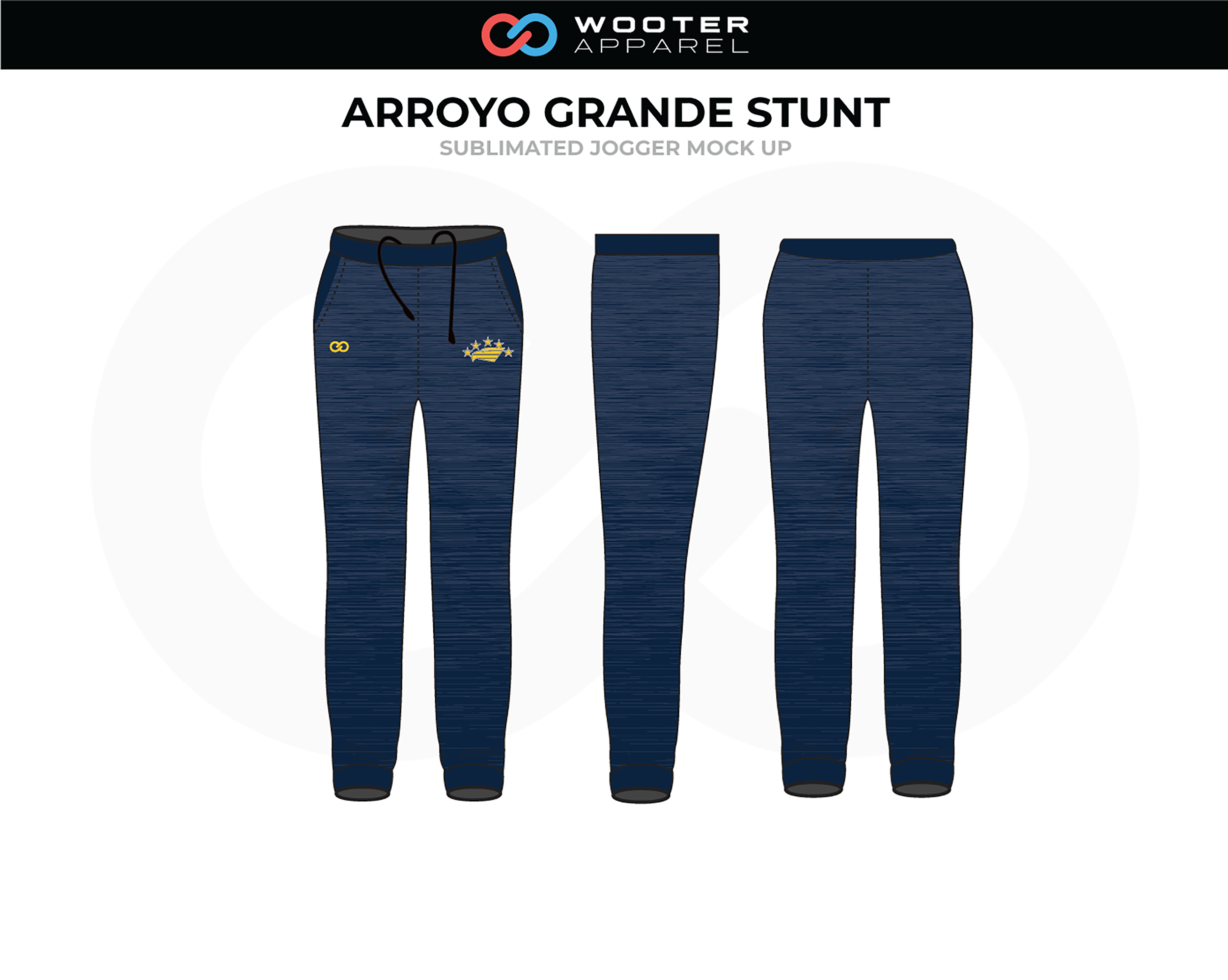 ARROYO GRANDE STUNT Navy Blue Black Volleyball Jogger