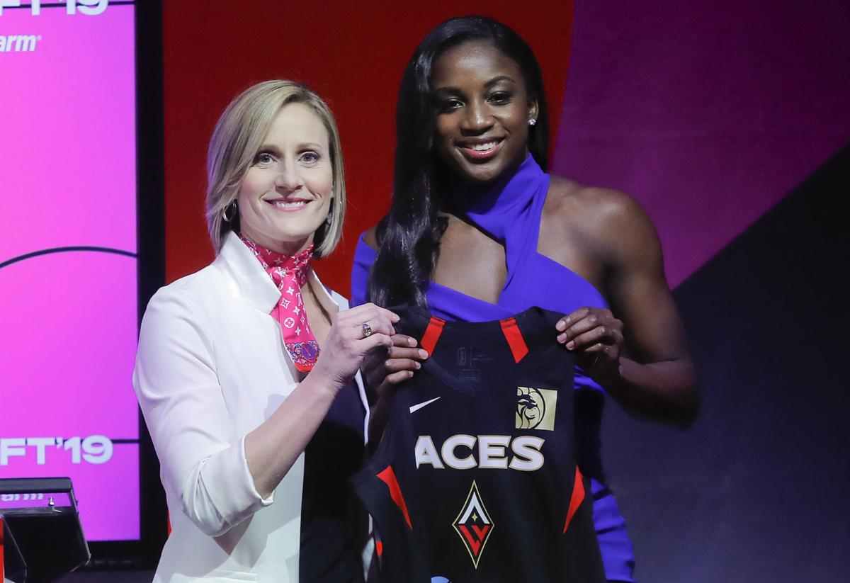 New Season, New Look: Selected No. 1 overall by the Las Vegas Aces, Notre Dame guard Jackie Young will be one of the WNBA players to sport the new Nike Women's Aeroswift uniforms this season.
